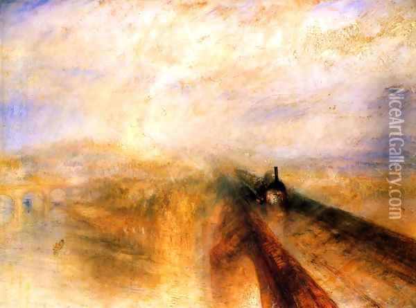Rain Steam and Speed the Great Western Railway Oil Painting - Joseph Mallord William Turner