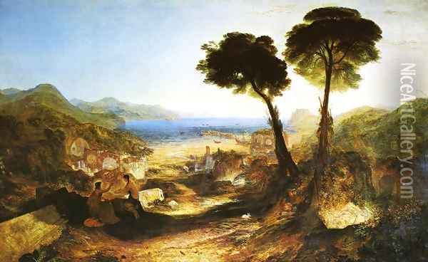 The Bay of Baiae with Apollo and the Sibyl 1823 Oil Painting - Joseph Mallord William Turner