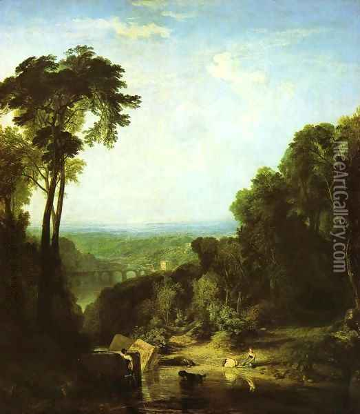 Crossing The Brook Oil Painting - Joseph Mallord William Turner