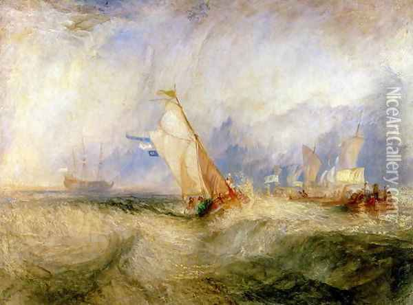 Van Tromp Going About to Please His Masters - Ships a Sea Getting a Good Wetting, 1844 Oil Painting - Joseph Mallord William Turner