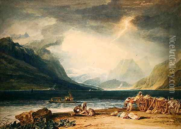 Lake Thun Oil Painting - Joseph Mallord William Turner