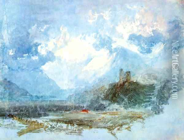 Dolbadern Castle 1799 Oil Painting - Joseph Mallord William Turner