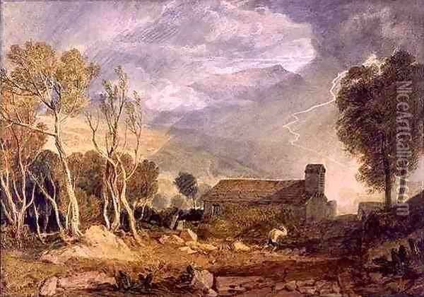 Patterdale Old Church, c.1810-15 Oil Painting - Joseph Mallord William Turner