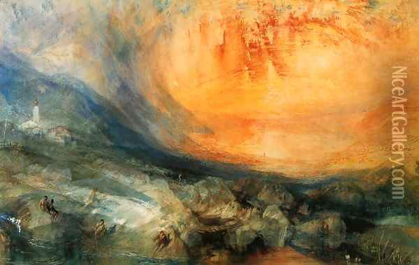 Goldau Oil Painting - Joseph Mallord William Turner