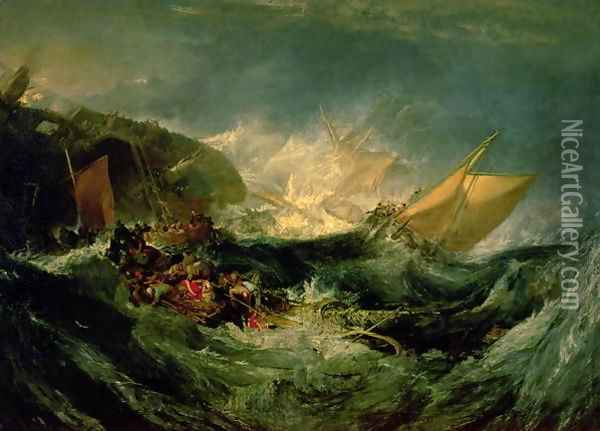 Wreck of a Transport Ship Oil Painting - Joseph Mallord William Turner