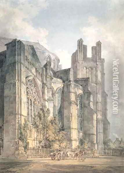 St Anselms Chapel, Canterbury Cathedral Oil Painting - Joseph Mallord William Turner