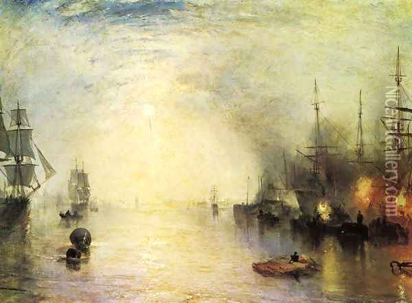 Keelman Heaving In Coals By Night Oil Painting - Joseph Mallord William Turner