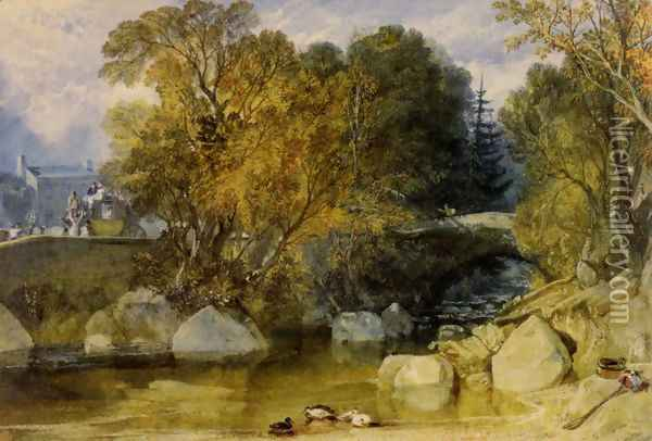 Ivy Bridge Devonshire Oil Painting - Joseph Mallord William Turner