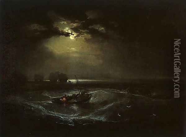 Fishermen at Sea (or The Cholmeley Sea Piece) Oil Painting - Joseph Mallord William Turner