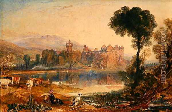 Linlithgow Palace, 1821 Oil Painting - Joseph Mallord William Turner