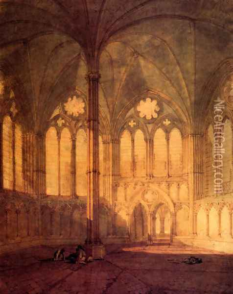 The Chapter House Salisbury Chathedral Oil Painting - Joseph Mallord William Turner