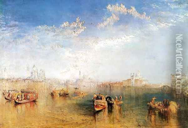 Giudecca, la Donna della Salute and San Georgio (or The Guidecca from the Canale di Fusina) Oil Painting - Joseph Mallord William Turner