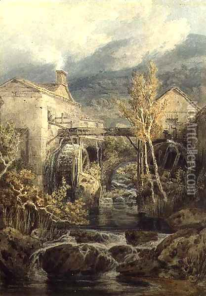 The Old Mill, Ambleside Oil Painting - Joseph Mallord William Turner