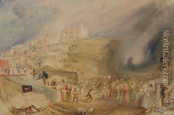 St. Catherines Hill, Guildford, Surrey, 1830 Oil Painting - Joseph Mallord William Turner