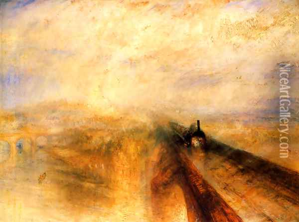 Rain, Steam and Speed The Great Western Railway 1844 Oil Painting - Joseph Mallord William Turner