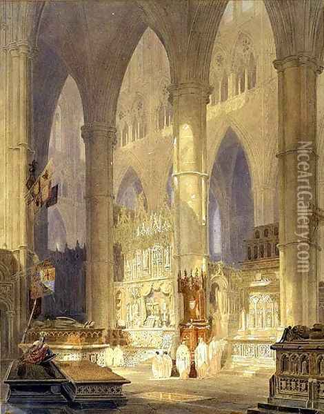 Caen Cathedral Oil Painting - Joseph Mallord William Turner
