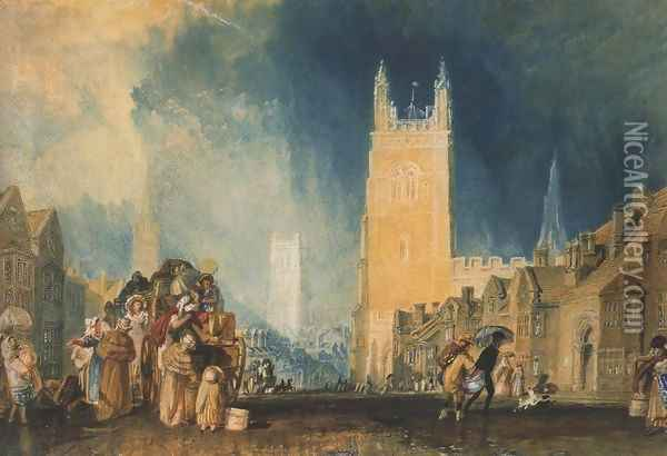 Stamford, Lincolnshire Oil Painting - Joseph Mallord William Turner