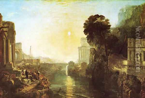 Dido Building Carthage (or The Rise of the Carthaginian Empire) Oil Painting - Joseph Mallord William Turner