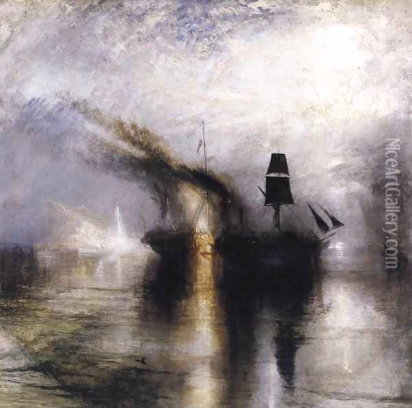 Peace - Burial at Sea 1842 Oil Painting - Joseph Mallord William Turner