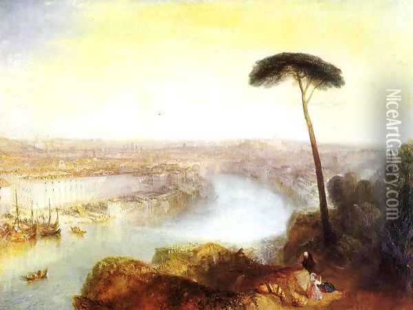 Rome From Mount Aventine Oil Painting - Joseph Mallord William Turner