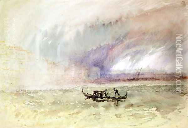 A Storm on the Lagoon, Venice Oil Painting - Joseph Mallord William Turner