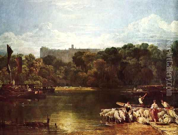 Windsor Castle From The Thames Oil Painting - Joseph Mallord William Turner