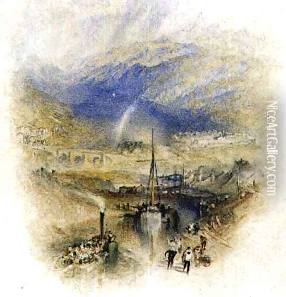 Fort Augustus, Loch Ness Oil Painting - Joseph Mallord William Turner