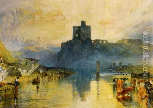 Norham Castle On The River Tweed Oil Painting - Joseph Mallord William Turner