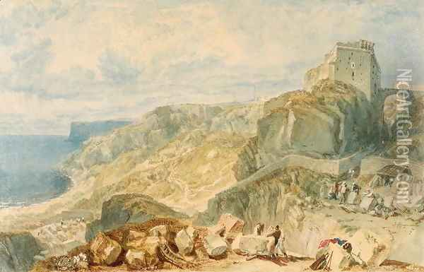 Bow and Arrow Castle, Isle of Portland Oil Painting - Joseph Mallord William Turner