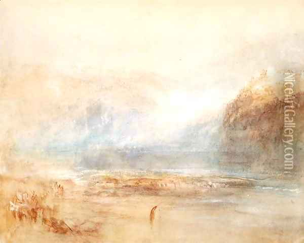 Falls of the Rhine at Schaffhausen, 1841 Oil Painting - Joseph Mallord William Turner