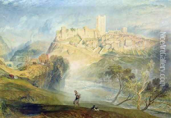Richmond, Yorkshire Oil Painting - Joseph Mallord William Turner