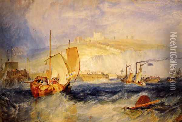 Dover Castle Oil Painting - Joseph Mallord William Turner