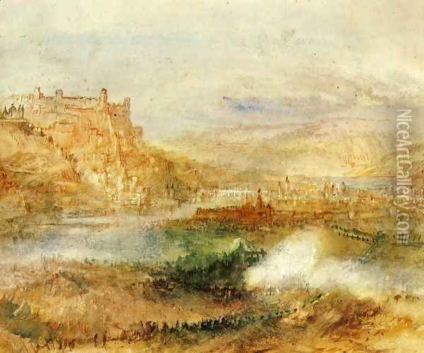 Ehrenbrietstein And Coblenz Oil Painting - Joseph Mallord William Turner