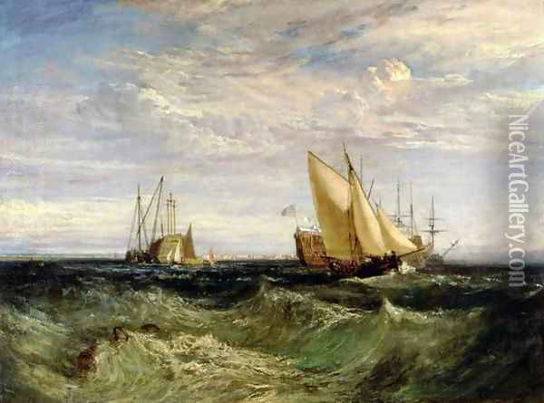 A Windy Day Oil Painting - Joseph Mallord William Turner