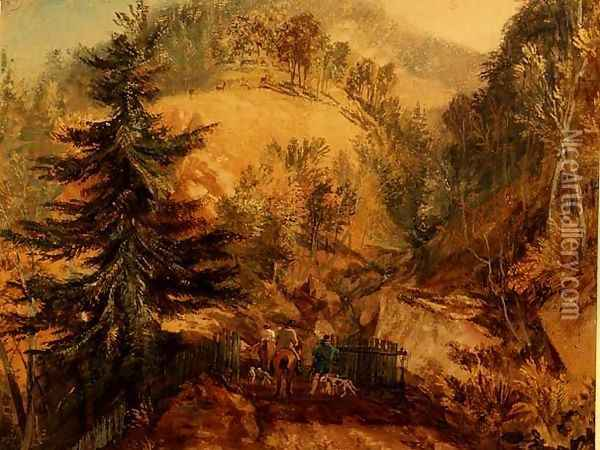 The Chevin, Otley, c.1818 Oil Painting - Joseph Mallord William Turner
