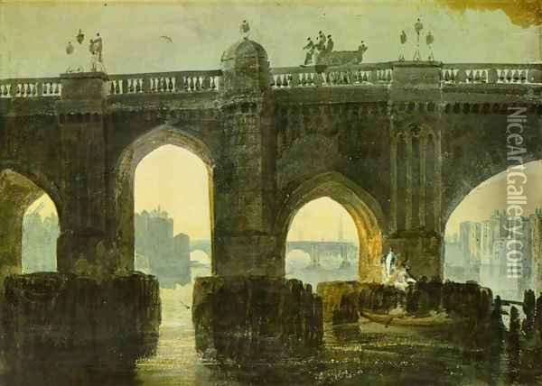 Old London Brige Oil Painting - Joseph Mallord William Turner