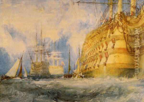 First Rate Taking In Stores Oil Painting - Joseph Mallord William Turner