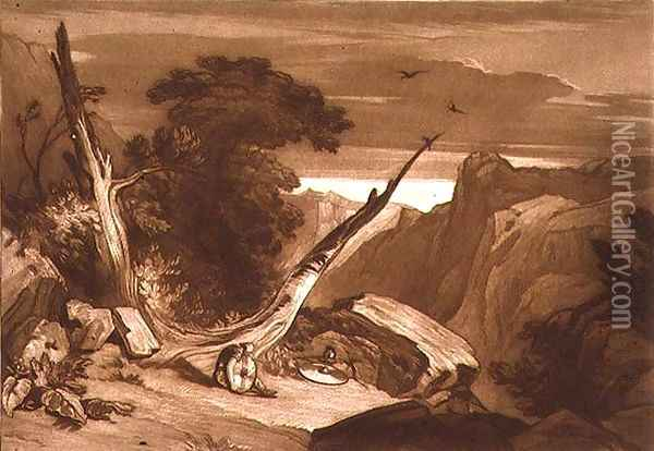 From Spenser's 'Fairy Queen', from the Liber Studiorum, engraved by T. Hodgetts, 1811 Oil Painting - Joseph Mallord William Turner