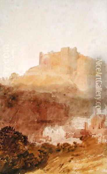 Durham Castle Oil Painting - Joseph Mallord William Turner