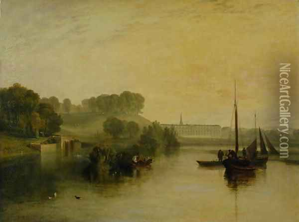 Petworth, Sussex, the Seat of the Earl of Egremont Dewy Morning, 1810 Oil Painting - Joseph Mallord William Turner