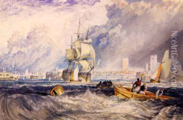 Portsmouth Oil Painting - Joseph Mallord William Turner