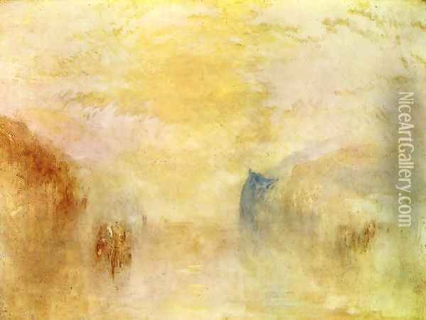 Sunrise Between Two Headlands Oil Painting - Joseph Mallord William Turner