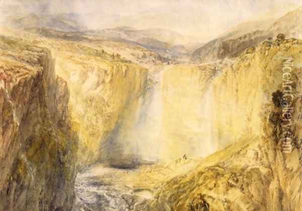 Fall Of The Trees Yorkshire Oil Painting - Joseph Mallord William Turner