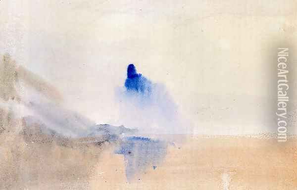 Study Of A Castle By A Lake Oil Painting - Joseph Mallord William Turner