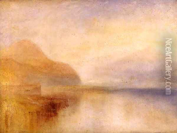 Inverary Pier, Loch Fyne, Morning, c.1840-5 Oil Painting - Joseph Mallord William Turner