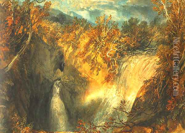 Weathercote Cave Oil Painting - Joseph Mallord William Turner