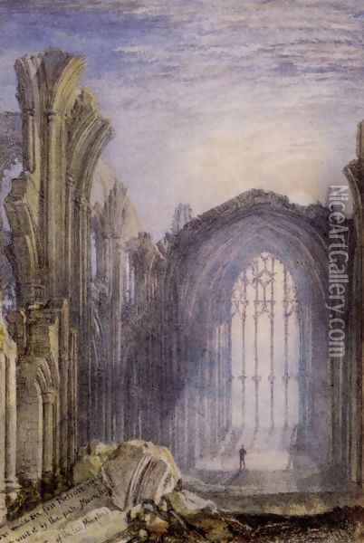 Melrose Abbey Oil Painting - Joseph Mallord William Turner