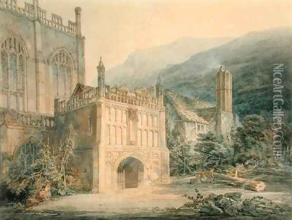 Porch of Great Malvern Abbey Oil Painting - Joseph Mallord William Turner