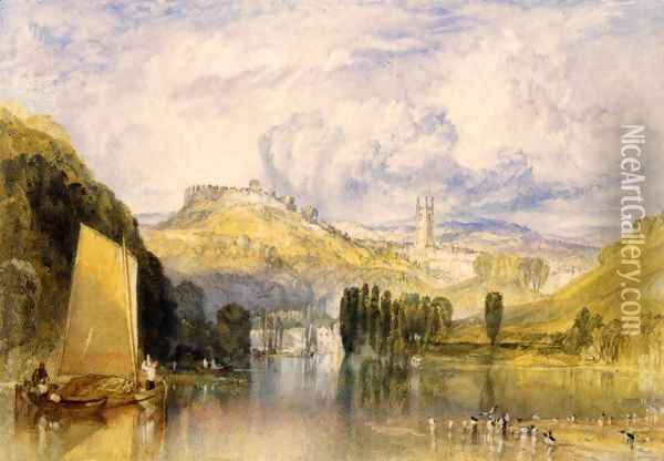 Totnes In The River Dart Oil Painting - Joseph Mallord William Turner