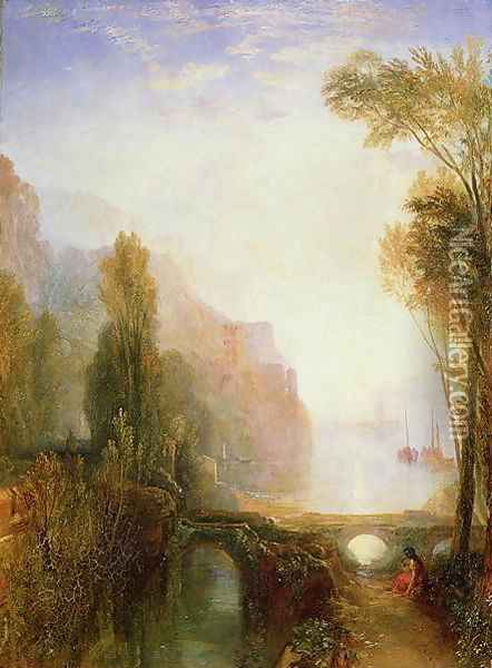 Banks of the Loire Oil Painting - Joseph Mallord William Turner